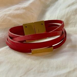 Coach leather bracelet